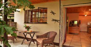 kasane self catering dragonfly cottage verandah