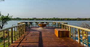 Jackaberry Chobe Lodge view over Chobe River