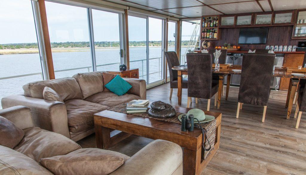 Pangolin Voyager Houseboat Lounge
