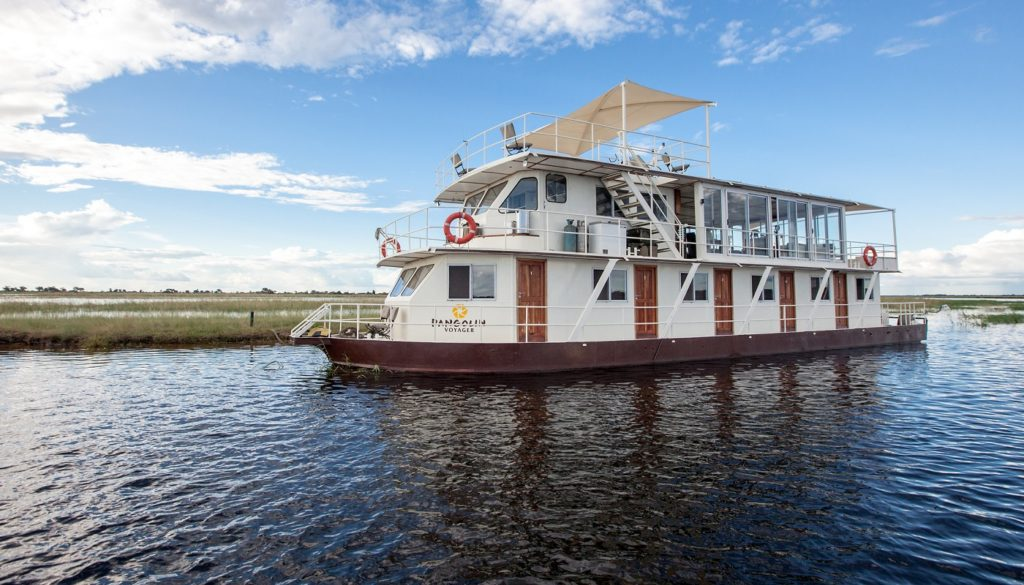 Pangolin Voyager Houseboat in Chobe National Park
