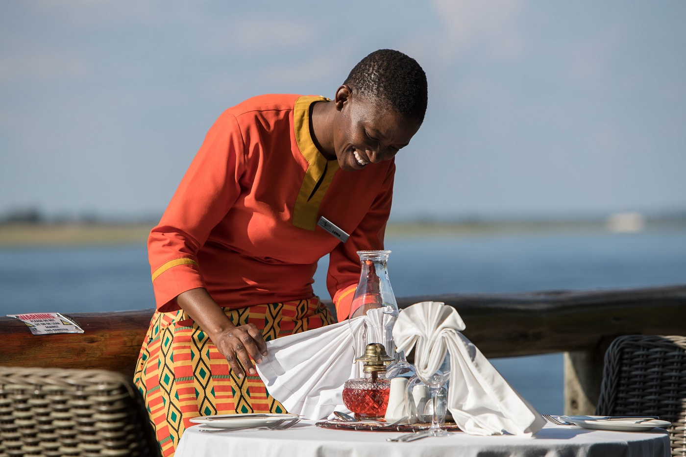 Chobe dining in style