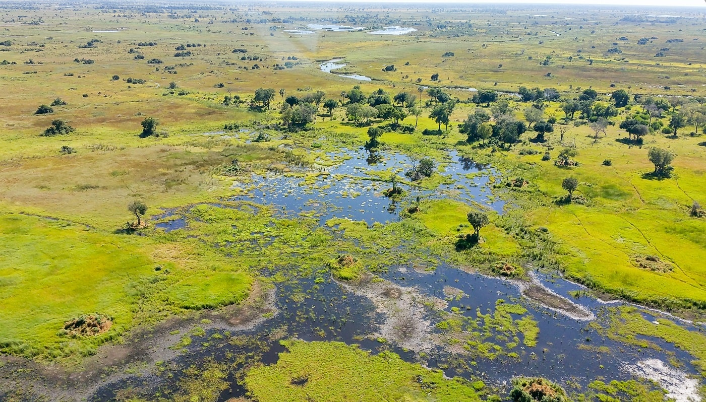 Experience Chobe National Park and the Okavango from above-min