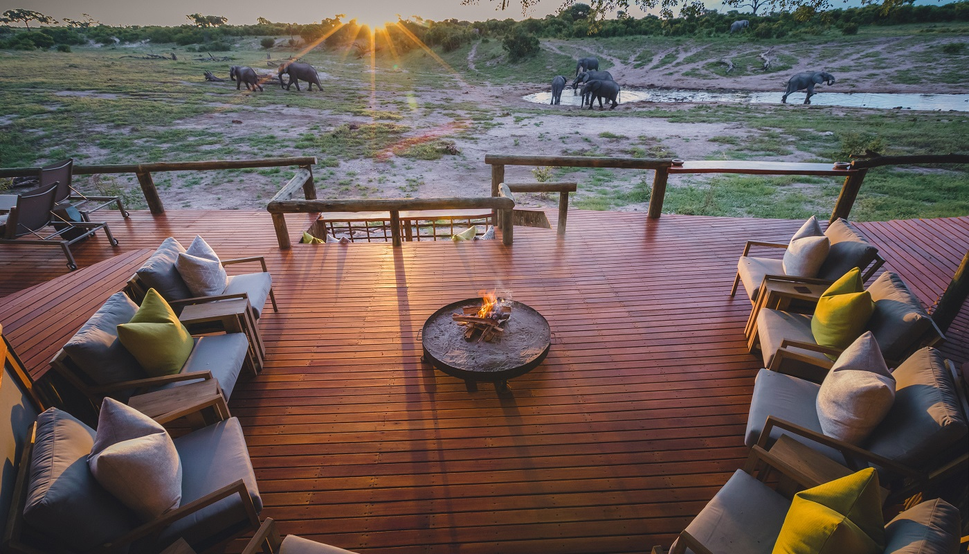 The deck at the Savute Safari Lodge