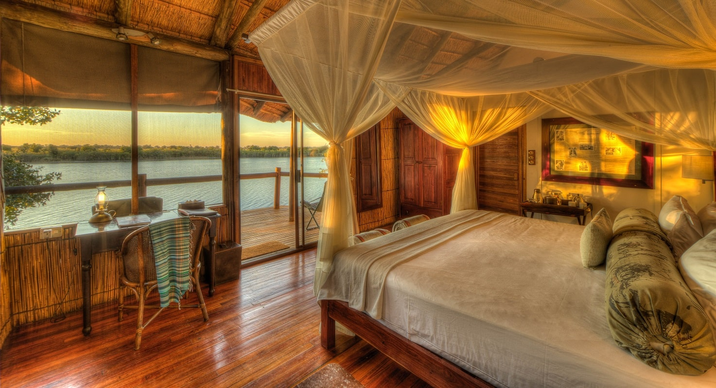 Xugana Island Lodge bedroom-min
