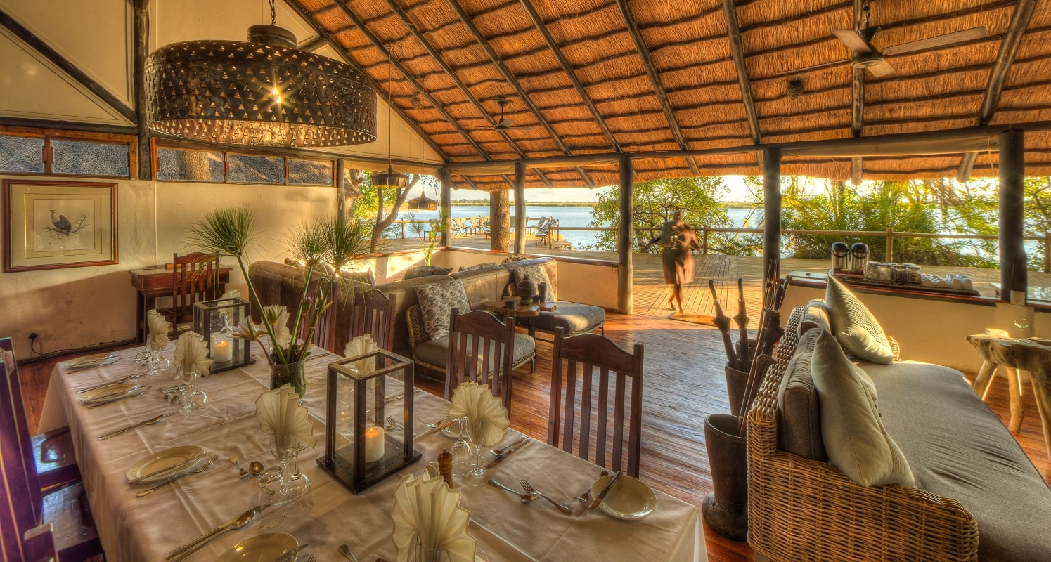 Xugana Island Lodge dining room-min
