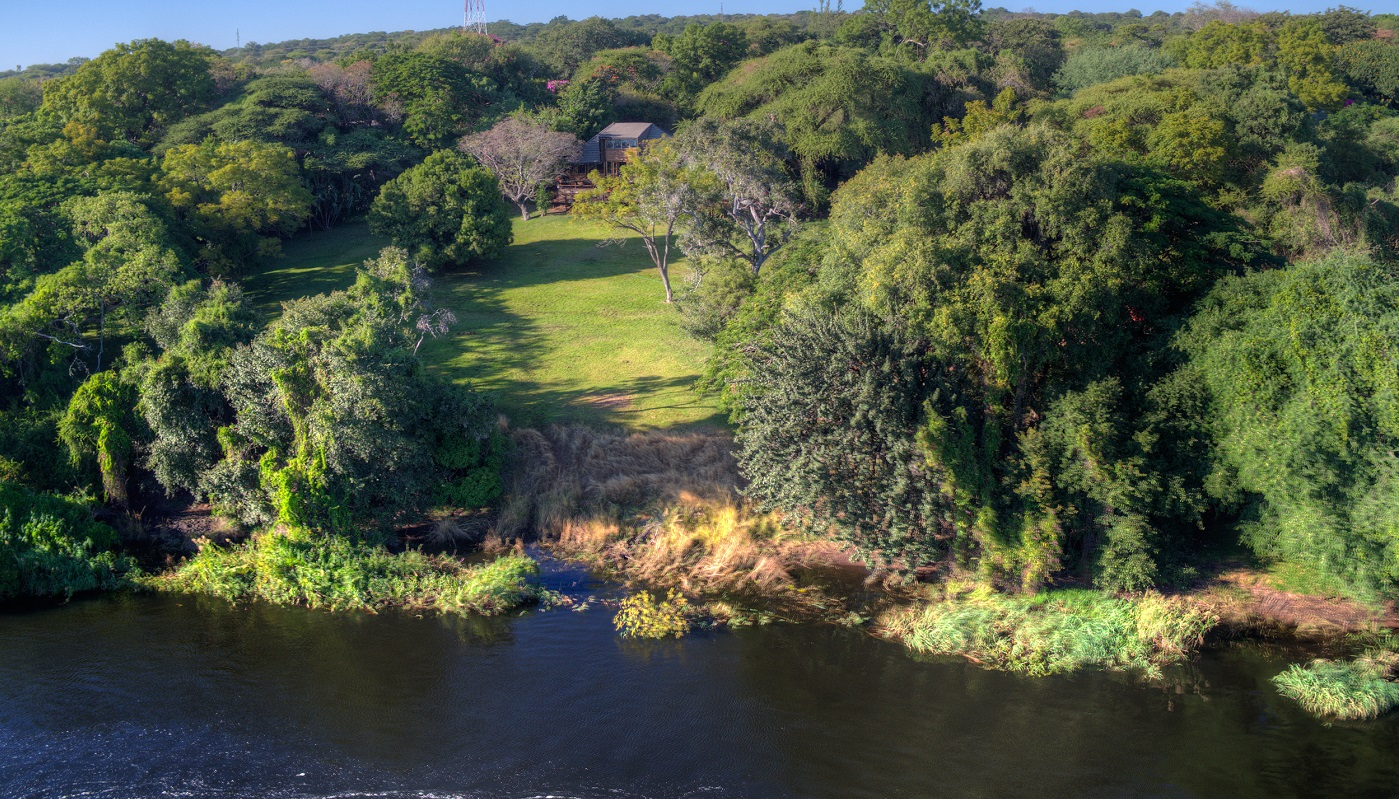 Chobe River banks with the lodge
